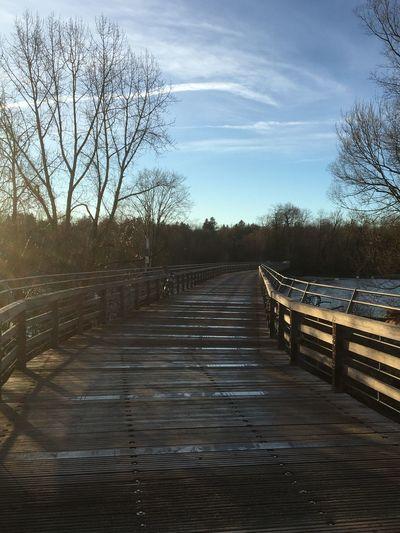 Holzbrücke am