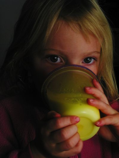 Little girl with her sippy cup Healthy Eating Child Indoors  One Person People Drinking Food And Drink Looking At Camera Holding Drink Sippycup Cups Girl Little Girl Good Morning Milk Drink Milk Eyes Big Brown Eyes