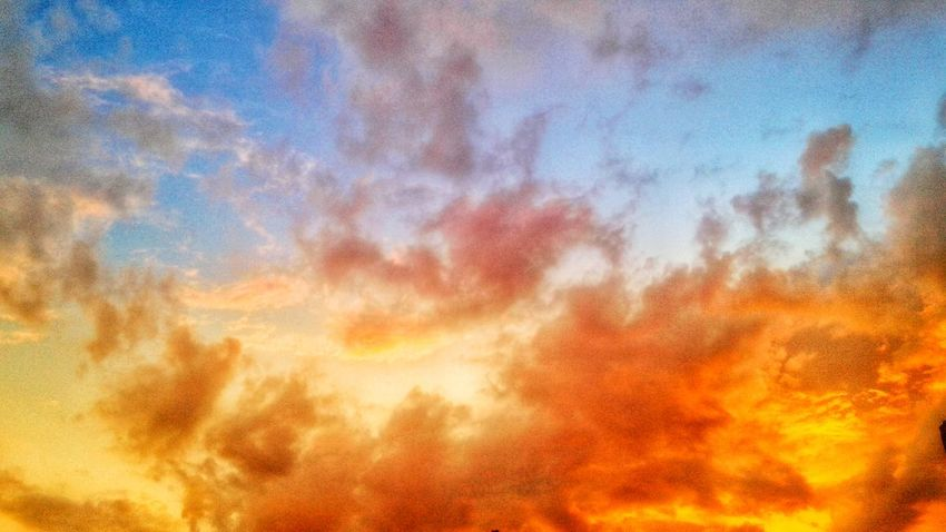 VAN GOGH LOOKED FOR SOME YELLOW WHEN THE SUN DISAPPEARED Sunlight Sun Sunshine Sunset Skyscape Clouds And Sky Blue Sky Yellow Orange Color Abstract Painting Photography Van Gogh William Blake