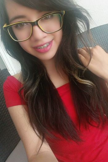 Nerdy Glasses Only Women One Woman Only Looking At Camera Smiling Happiness Young Women Red Long Hair One Person Young Adult Cheerful People Mexico Hello World Real People Women Fashion Beauty Beautiful Woman New Model Abii Sykes Sixx Lifestyles Beautiful People Glamour