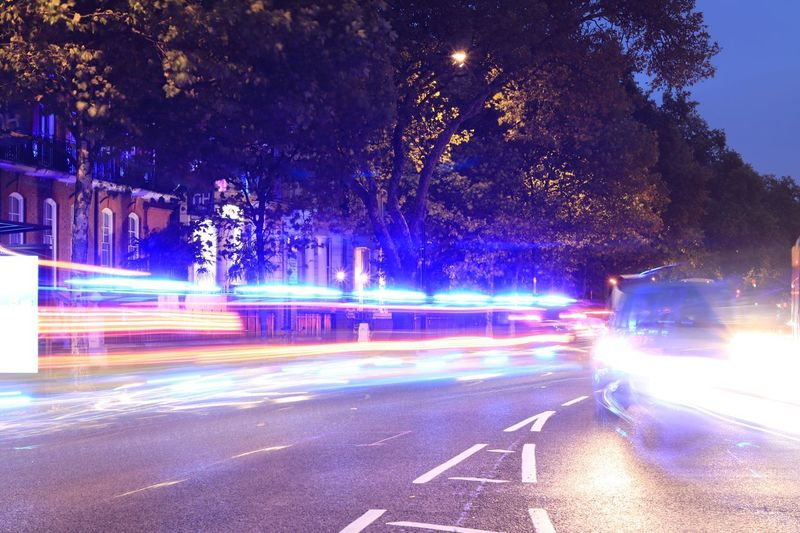London, today Blurred Motion Speed Long Exposure Motion Night Light Trail Illuminated Transportation Road Street Outdoors No People Land Vehicle Tree City High Street Sky Canon200D London Cromwell Road
