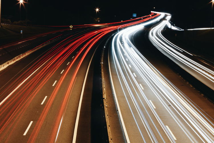 Light trail SpeedEyeEm Selects Light Trail Motion Traffic Night Long Exposure Red Highway Street Transportation City Life City City Street Illuminated Road Outdoors No People Rush Hour Transportation Cars Highways&Freeways Highway_collection Let's Go. Together.