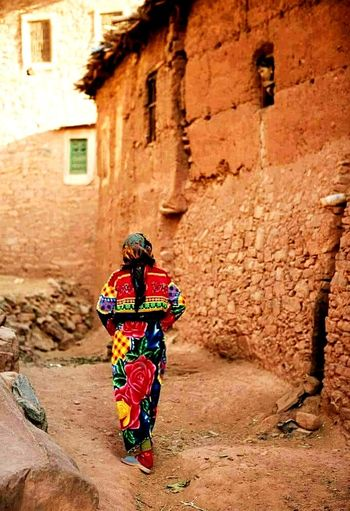 Mix the desert and the city #City #Morocco One Person Full Length Adult Real People Outdoors Day People Women Only Women One Woman Only Architecture Adults Only first eyeem photo