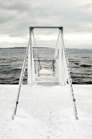 Childhood Frozen Frozen Structure Fun I Icicles Jetty Lake Leisure Activity Sea Seascape Snow The Way Forward Waters Edge Winter