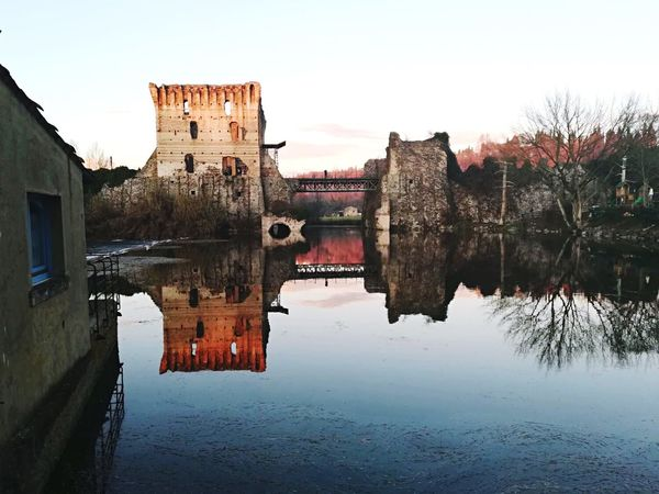 Borghetto // Verona Photooftheday Photography Gite Borgo Medievale Borgo Verona Italia Italy Architecture Water Built Structure Reflection Building Exterior History Old Ruin Sky Day Nature No People Outdoors