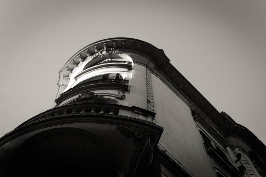 Just a part of a big city Architecture Black And White Building Built Structure Day No People Outdoors Tall - High