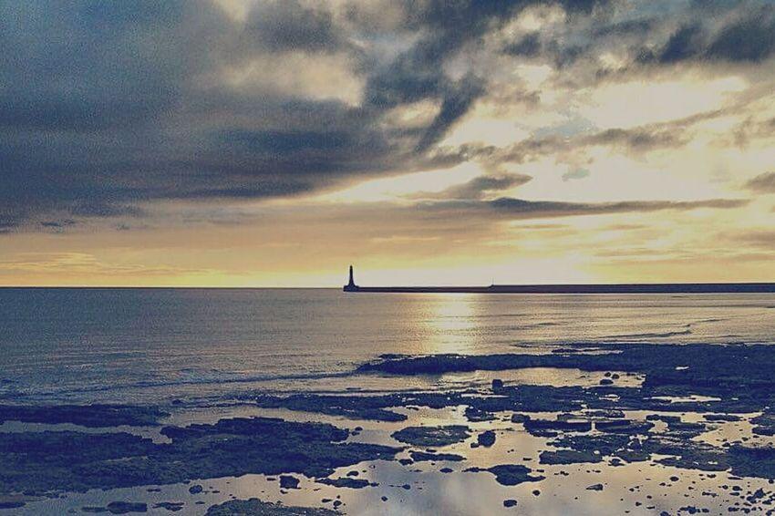 Sunrise St Marys Lighthouse Northumberland