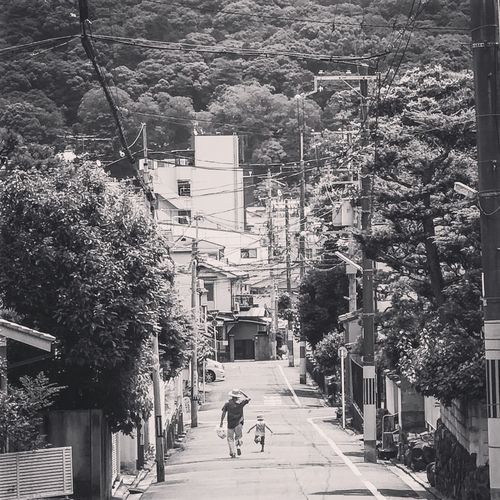 Japan Life Local Black And White Blackandwhite Candid Culture Cultures Daimonji Mountain Kyoto Two People