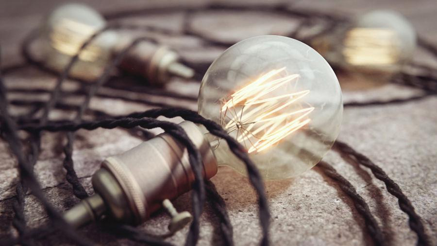 Close-up of light bulb
