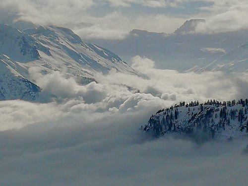 Valais Wallis Mist Nebelmeer Nebel Wallis Sky Cloud - Sky Snowcapped Mountain EyeEmNewHere