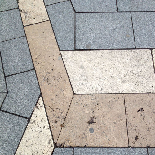 Abstract Cobblestone Dirty Geometry Pattern Sidewalk Street Textured  Tiled Tiled Floor