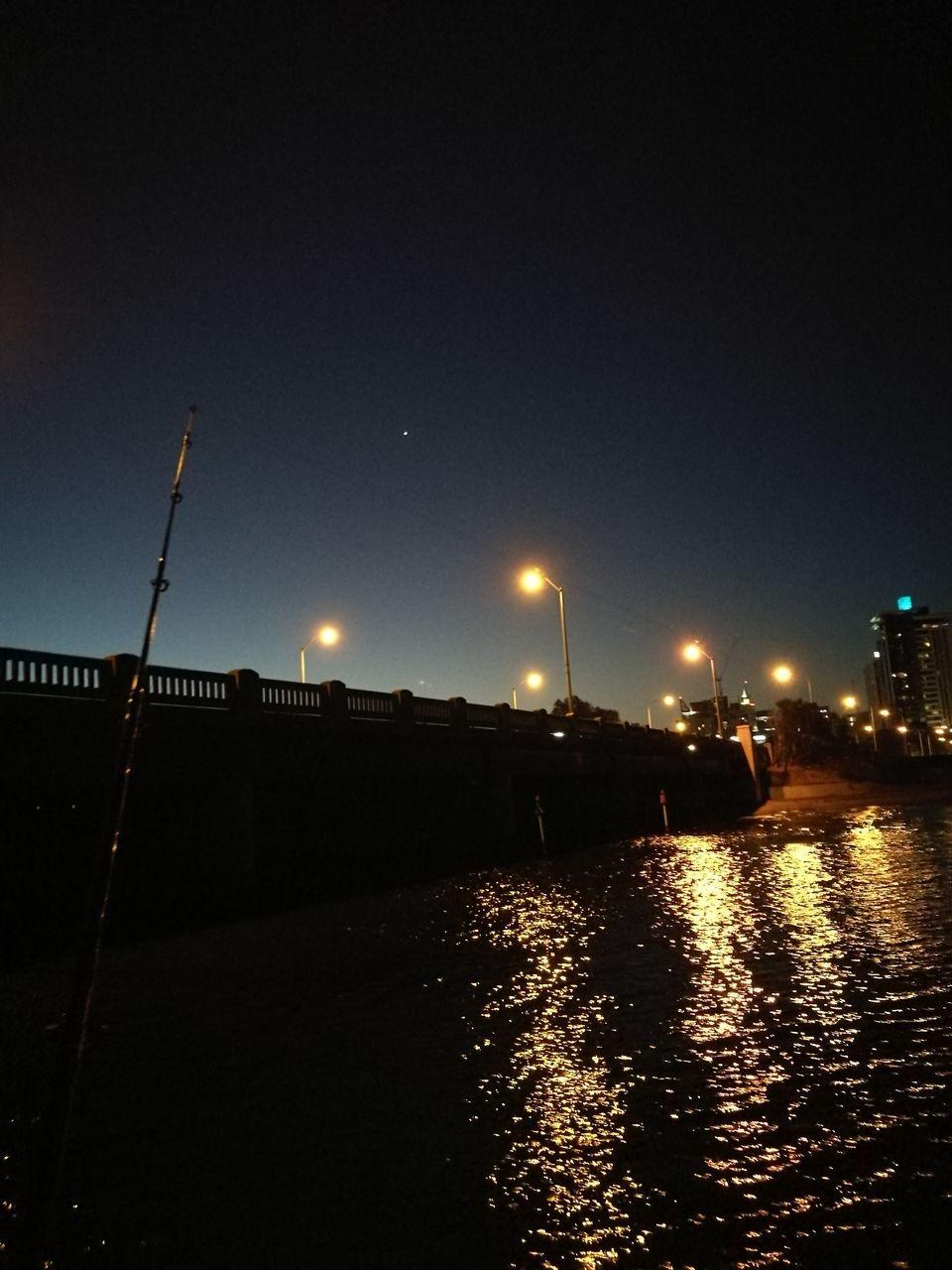 night, illuminated, no people, outdoors, street light, moon, sky, clear sky, architecture
