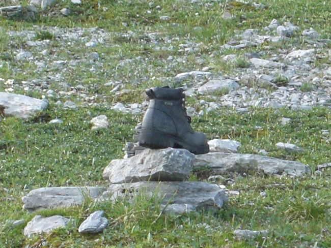 Stone Shoes Lost Outdoors BerneseAlps Beauty In Nature Eigertrail, Switzerland Eiger Nordwand Nature