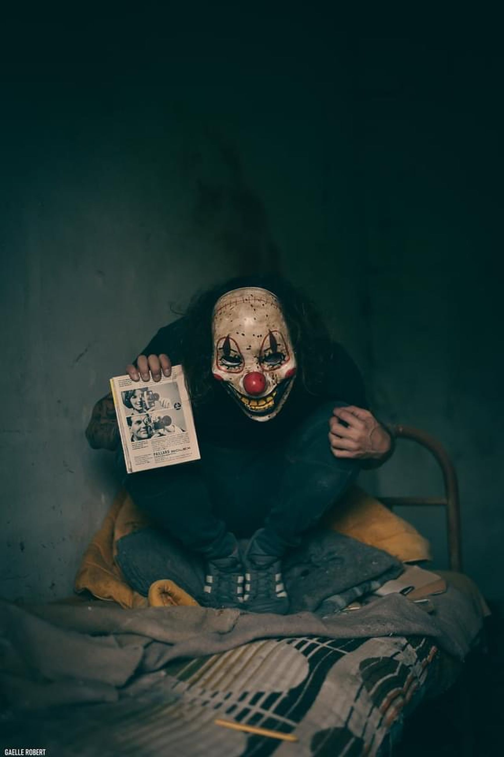 darkness, spooky, fear, one person, horror, indoors, adult, portrait, men, halloween, monster - fictional character, front view, evil, communication, dark, looking at camera, emotion, human skeleton, mask, shock, disguise, human skull, sitting, surprise, celebration, sign, poster, mask - disguise, mystery