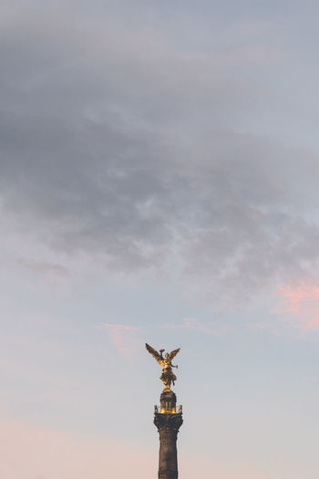 Morning. Cloud - Sky Cross Crown Day Human Representation Low Angle View Monument Nature No People Outdoors Sculpture Sky Statue