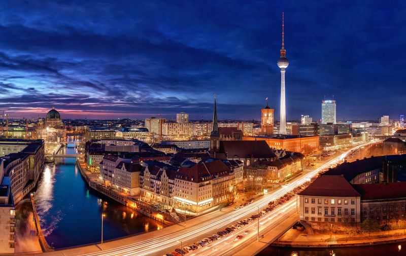 Berlin Cityscape At Night