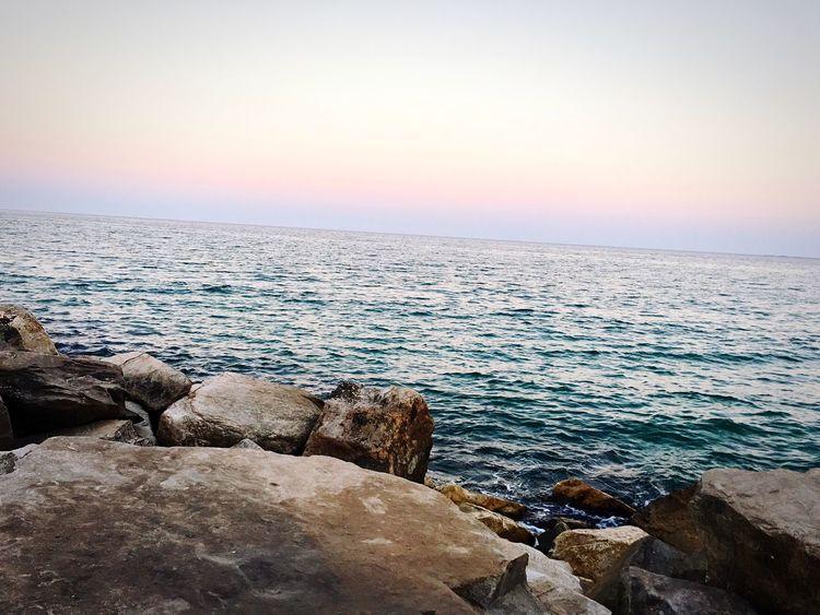 Sunset Beauty In Nature Beach Relaxing Enjoying Life