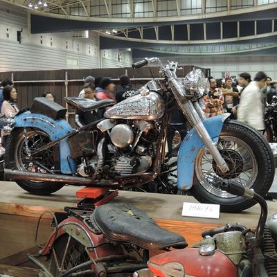 Yokohama hotrod custom show 2013 Hcs2013 Harleydavidson Knucklehead Bobber