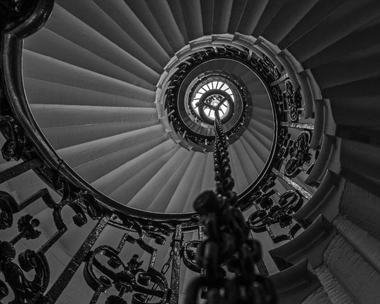 EyeEm Best Shots - Black + White Monochrome Spiral Staircase Staircase Stairporn Geometric Shapes
