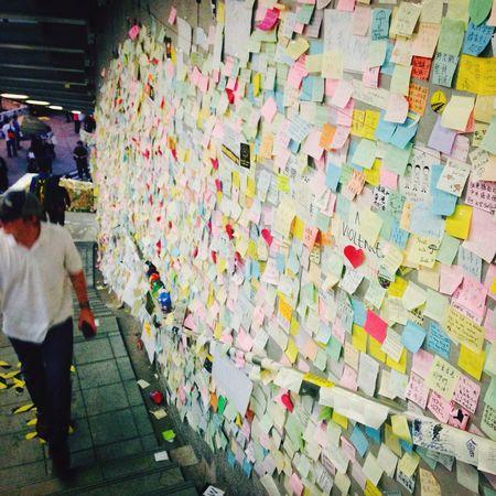 Lennon wall Lennon HongKong Love Revolution
