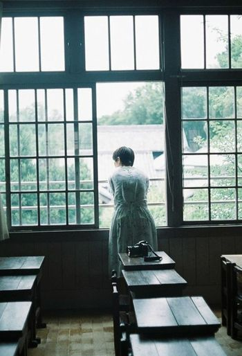 Old House Film Photography Film Filmphoto Japan Filmcamera Filmphoto Glass - Material Transparent Standing Nature Looking At View Women