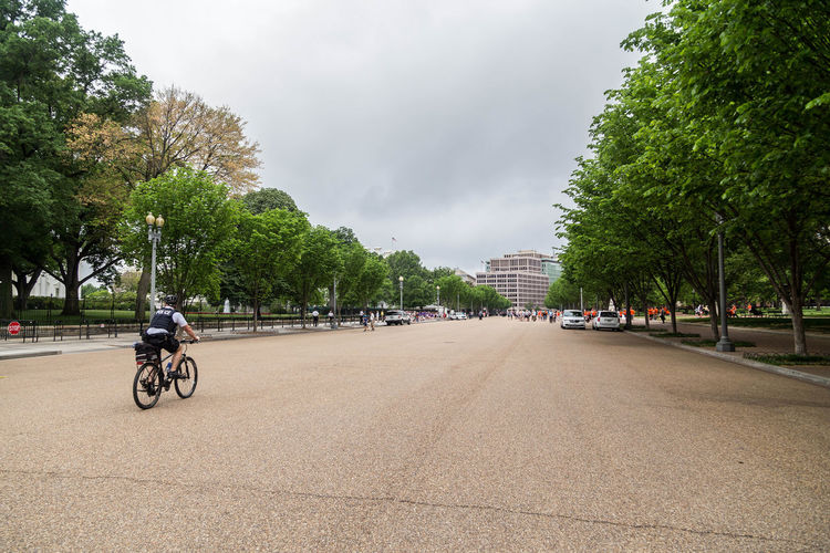 Pennsylvania Avenue... America Architecture Bicycle City City Life Cloud - Sky Cycling Day Mode Of Transport Pennsylvania Ave Pennsylvania Avenue Real People Riding Road Sky The White House Transportation Tree Trees USA Washington Washington DC Washington, D. C. WashingtonDC White Hosue