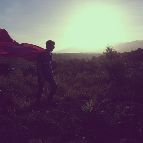 Super man inspired sunrise photo shoot | edited with the iPhone app Viewmatic Viewmatic