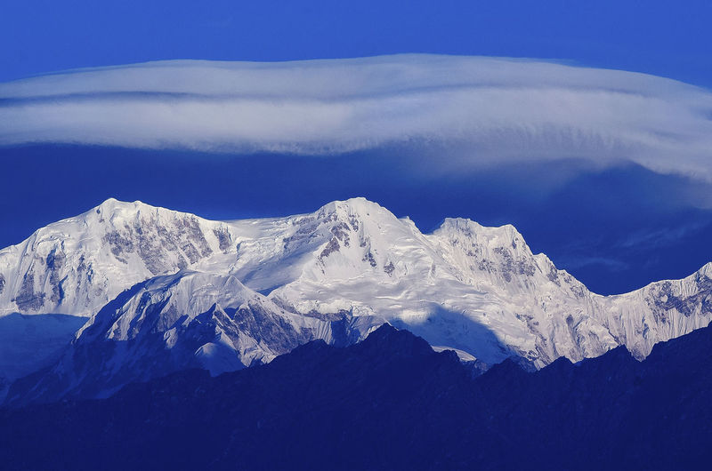 Kangchenjunga Ice Nature Beauty In Nature Blue Cloud - Sky Cold Temperature Day Landscape Mountain Mountain Range Nature No People Outdoors Sikkim Sky Snow Weather Winter