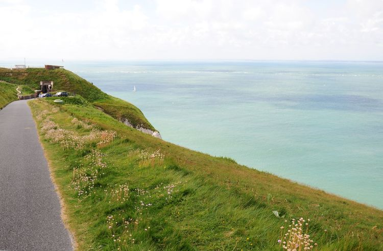Trip to Isle of Wight, United Kingdom from South city Southampton. Color Grass Green Horison Horizon Over Water Horizontal Landscape Pictures Road Roadtrip Sky Sky And Clouds South The Needles Uk View