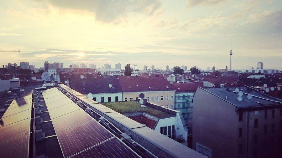 Sunset Sundown...♥ Xberg Solar Solar Panels Kreuzberg36 Kotti Kottiwood Rooftop Rooftop Scenery Rooftop View  Startup Summer First Eyeem Photo