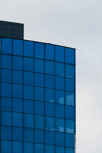 Architecture Built Structure Sky Building Exterior Blue Glass - Material No People Modern Building Low Angle View Day Nature City Office Building Exterior Reflection Pattern Shape Office Outdoors Geometric Shape