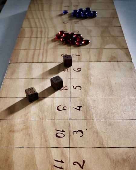 High Angle View No People Indoors  Day Game Dice Dices Medieval Old Old Games Wood - Material Wood Art Wood Game Middle Age History