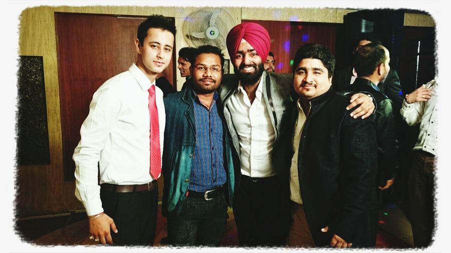 Friend in need is a friend always on dancing floor with.......me tarun rajat and dheeraj Out Of Control