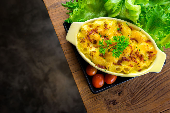 macaroni and cheese homemade food Breakfast Close-up Cutting Board Day Egg Food Food And Drink Freshness Fried Egg Healthy Eating High Angle View Indoors  No People Omelet Ready-to-eat Table Vegetable
