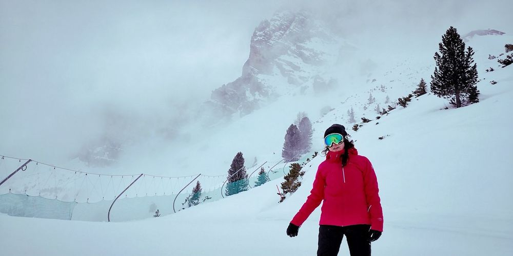 Mountain Cloudy White Color Nature Outdoor Photography Cold Winter ❄⛄ EyeEm Nature Lover Winter Wonderland Winter Warm Clothing Snowboarding Ski Holiday Mountain Snow Headwear Women Cold Temperature Winter Adventure Powder Snow Deep Snow Ski Lift Ski Slope Ski-wear Winter Sport