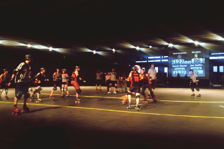 Roller Derby BCRDvsTigerB BerlinBombshells Enjoying Life Great Atmosphere Great Crowd