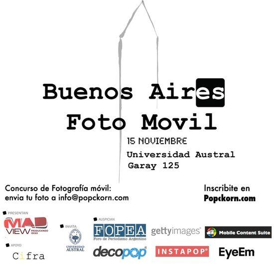 Llega el primer festival de fotografia movil. concurso de fotos movil con exposiciones y premios. Invitados internacionales. Buenos Aires Foto Movil