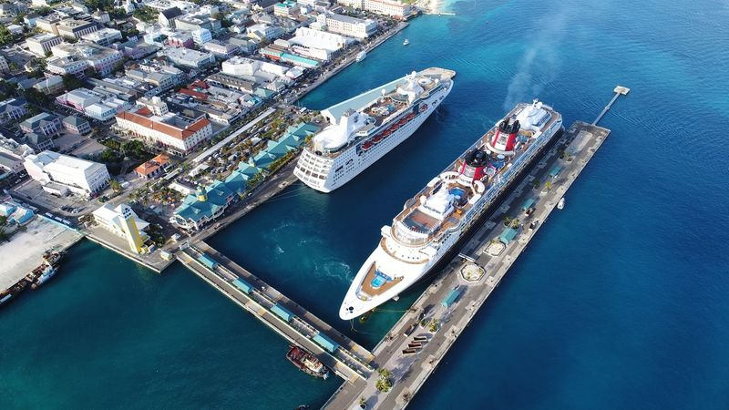 Cruise terminal Nassau Bahamas Cruise Bahamas Nassau, Bahamas Port Ship Cruise Ship Dronephotography Aerial Shot DJI X Eyeem EyeEm Selects High Angle View Nautical Vessel Aerial View Transportation Water Mode Of Transport Day Sea City Architecture Outdoors Building Exterior No People Harbor Sailing Cityscape