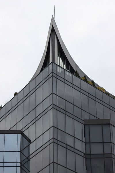 Architecture Building Exterior Built Structure Day Glass - Material Gray Low Angle View Modern No People Outdoors Sky Triangle Shape Windows