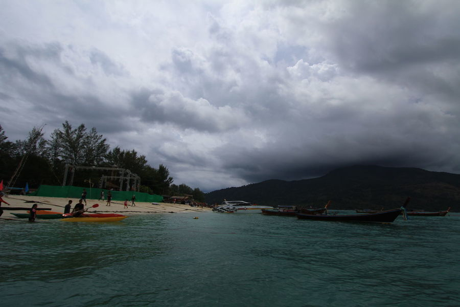 dark clouds on the beach Travel Photography Beach Thailand Skies And Clouds Thailandtravel Thailand Trip