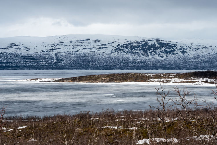 Island in the sun 2 Abisko Beauty In Nature Cold Temperature Day Frozen Glacier Ice Iceberg Lake Landscape Mountain Mountain Range Nature No People Outdoors Scenics Sky Snow Snowcapped Mountain Sweden Tranquil Scene Tranquility Water Weather Winter