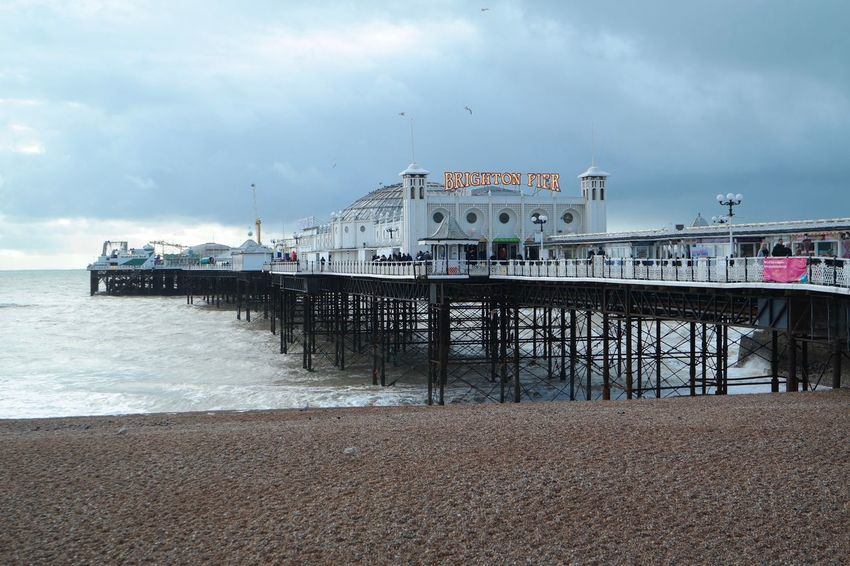 Brighton Brighton Pier Brighton Pier UK Architecture Beach Built Structure Cloud - Sky Day Outdoors Pier Sea Sky Water