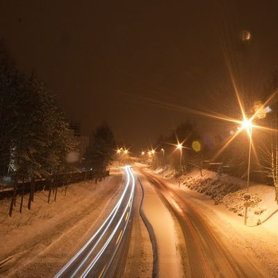 Ilovenorway Ilovenorway_akershus Follo   ås worldunion wu_norway winter frost ig_week ig_week_winter ig_world ig_norway traffic trafikk cars lights long_exposure canon eos 400d