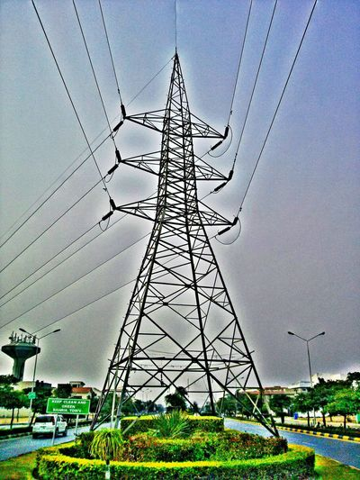 HDR Electricity  Sky No People Electricity Pylon Transmission Line Tower Electricity Tower Electric Wire Electr