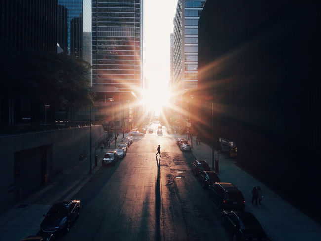 Chasing Light Streetphotography Urbanphotography Chicago Light Sunset Light And Shadow Shadow Silhouette Strideby EyeEm x WhiteWall: Cities The Street Photographer - 2016 EyeEm Awards