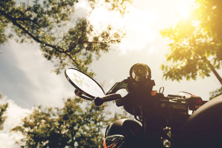 Cropped Image Of Motorcycle Against Sky