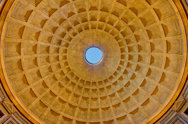 Pantheon, Rome. Agrippa Ceiling Empire Pantheon Rome Skylight Travel Architecture Built Structure Circle Colorful Cupola Design Dome History Indoors  Interior Italian Italy Low Angle View Monument Roman Travel Destinations Urban