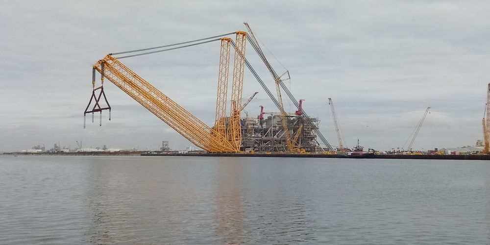 Water Sky Crane - Construction Machinery Commercial Dock Dock Crane Shipping  Construction Tall - High