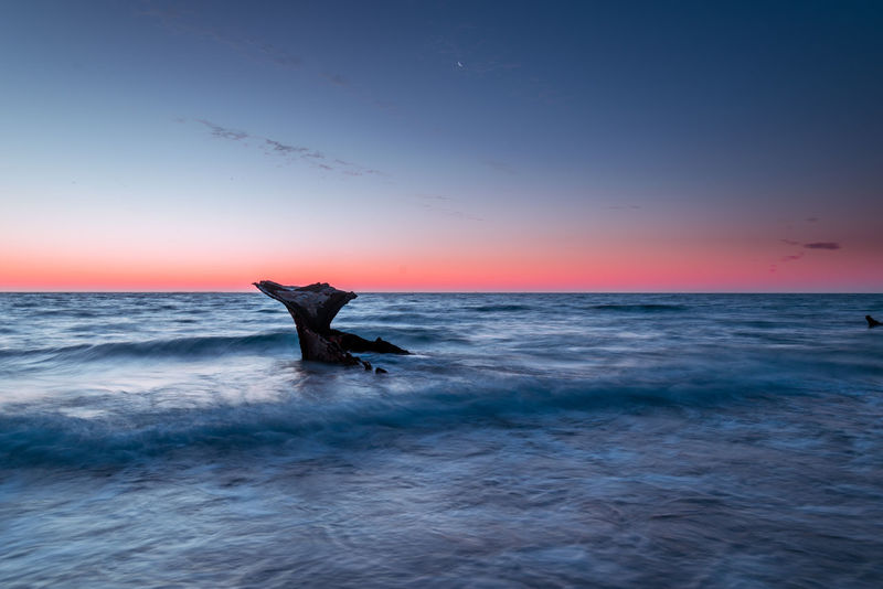 Shipwreck by the beach Australia Ruins Transportation Beach Calamity Historical Long Exposure Manmade Scenics Shipwreck Shipwreck Beach Smooth Sunset Waves
