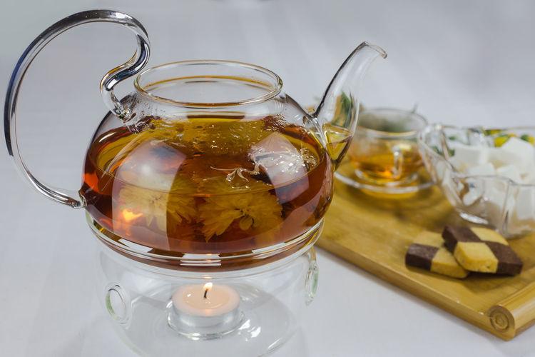 Close-Up Of Herbal Tea In Teapot
